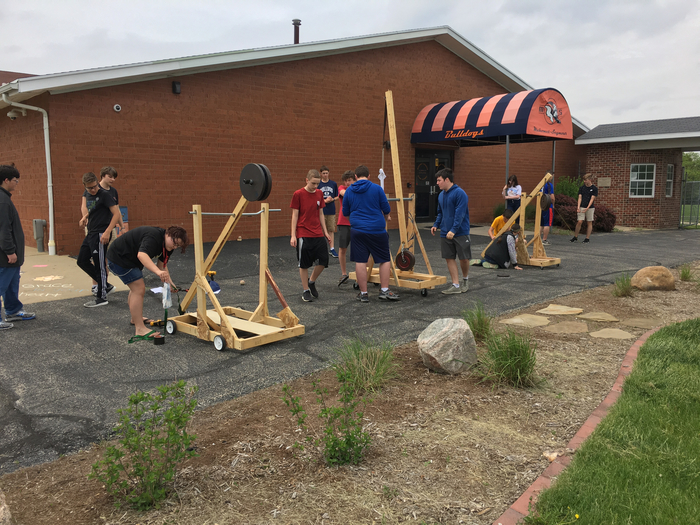 Trebuchet projects in Intro to Industrial Engineering