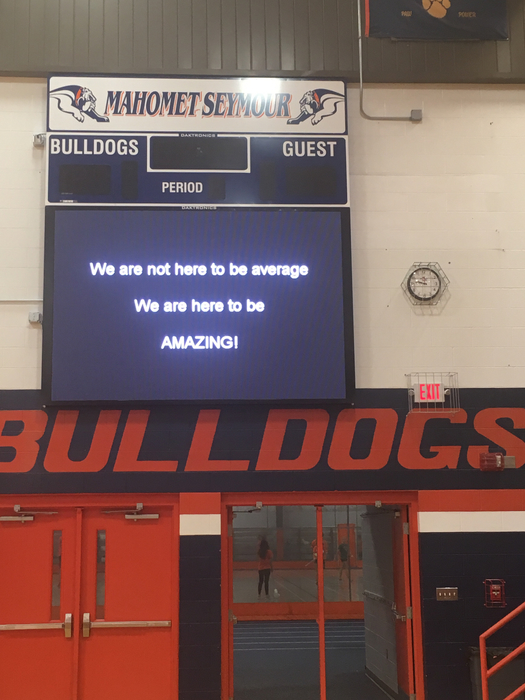 Message in Gym