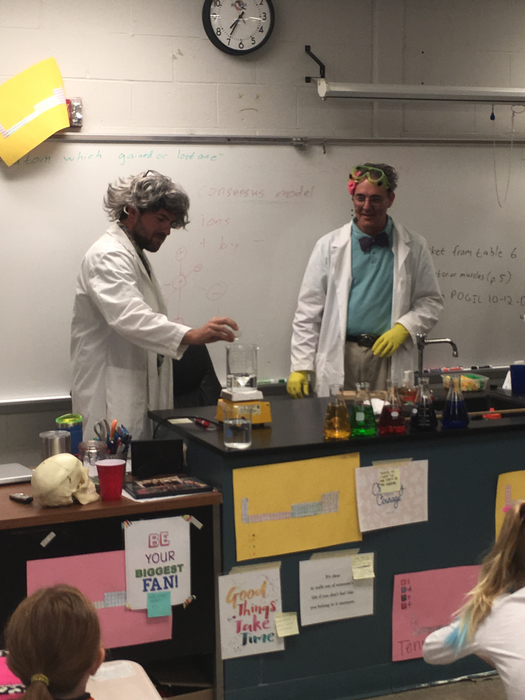 Mr. Davis & Mr. Koker- ghostly color changing liquid