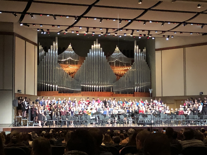 Festival Chorus on stage at Olivet Nazarene University