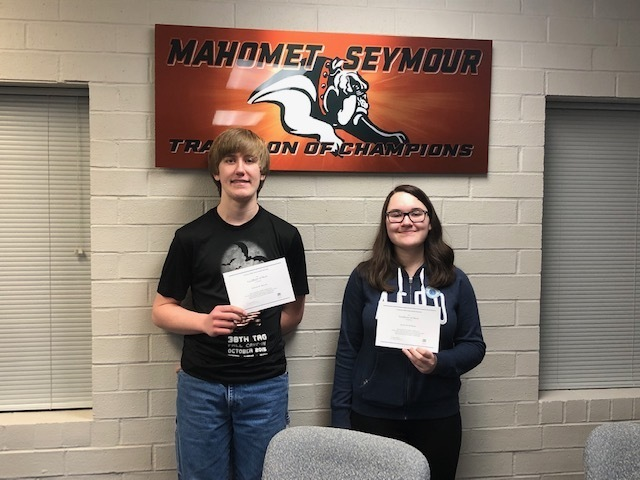 National Merit Finalist Jessica Berkman and Nicholas Morrow