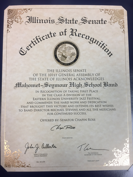 MSHS Band recognition