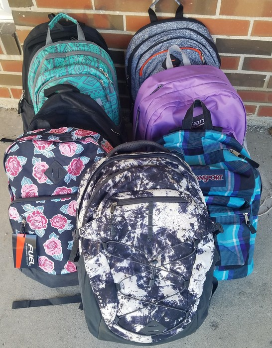 Backpacks being delivered to The Center for Youth & Family Solutions, Champaign, IL