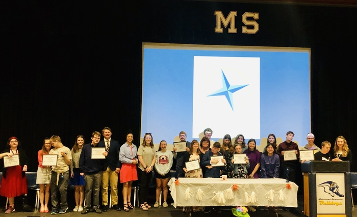 All students with their awards