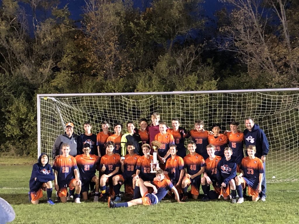 Jv soccer wins back to back champions at Peoria Notre Dame tourney.