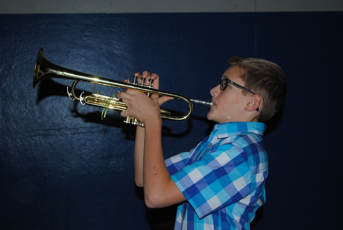 Student Playing Taps