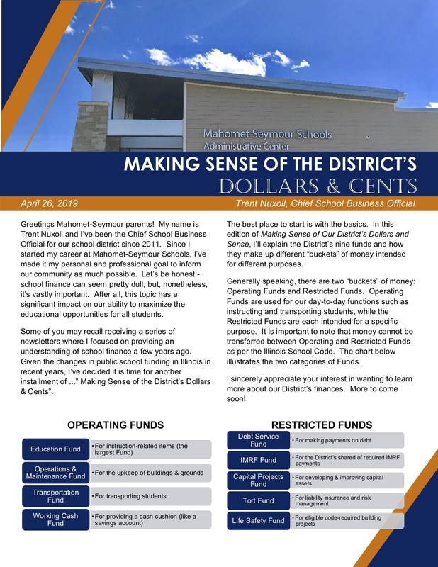 Making Sense of the District's Dollars & Cents